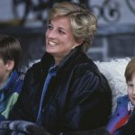Diana, William and Harry on a skiing holiday in Lech, Austria, in March 1993. Picture: Jayne Fincher/Princess Diana Archive/Getty Images