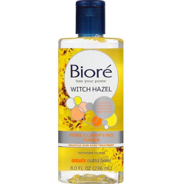Top 10 Affordable Toners To Try - Biore Witch Hazel Clarifying Toner. $5.99 for 6.77 FL OZ.