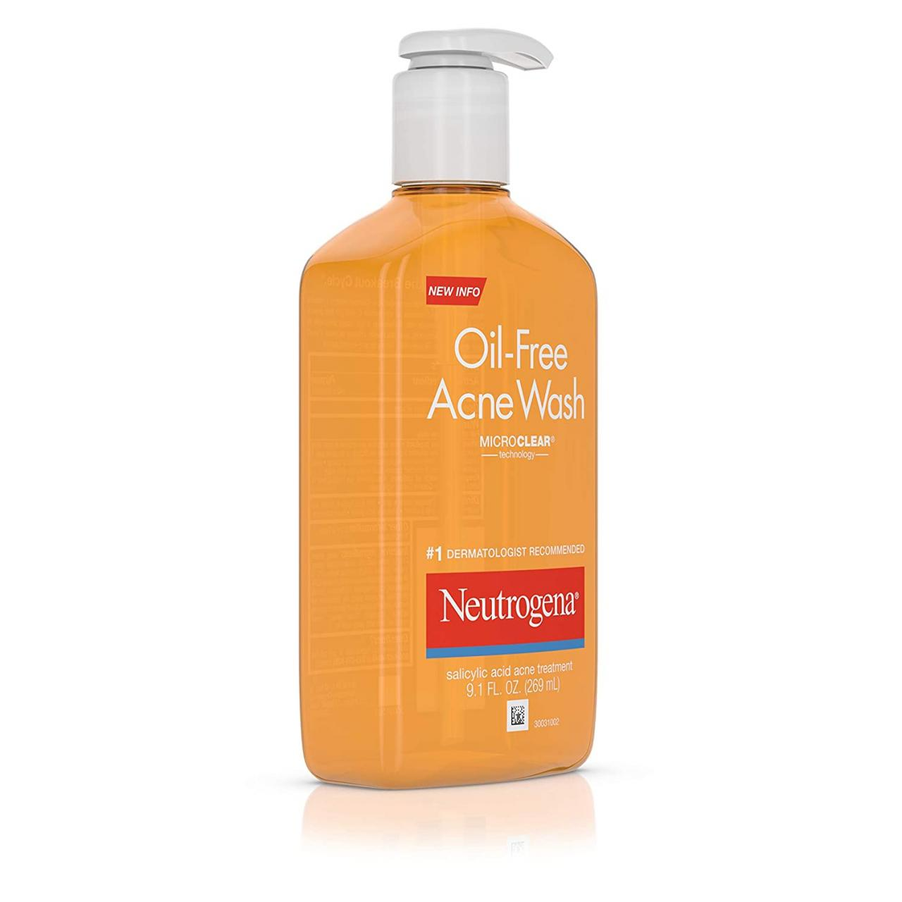 Skin Care Products for Acne : neutrogena oil-free salicylic-acid acne-fighting face wash